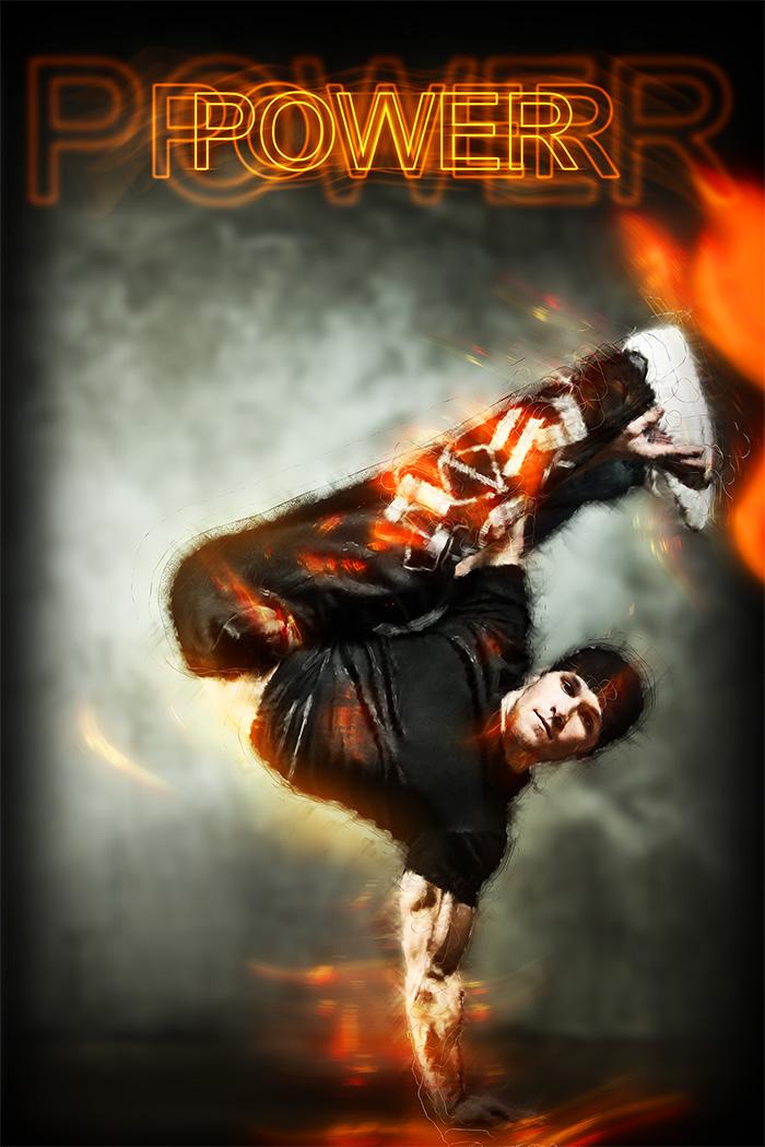 Break Dance Posters - Power After Retouching