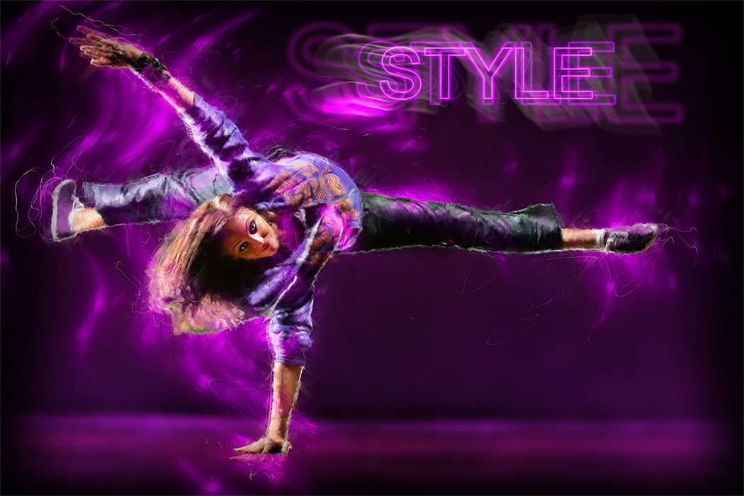 Break Dance Posters - Style After Retouching