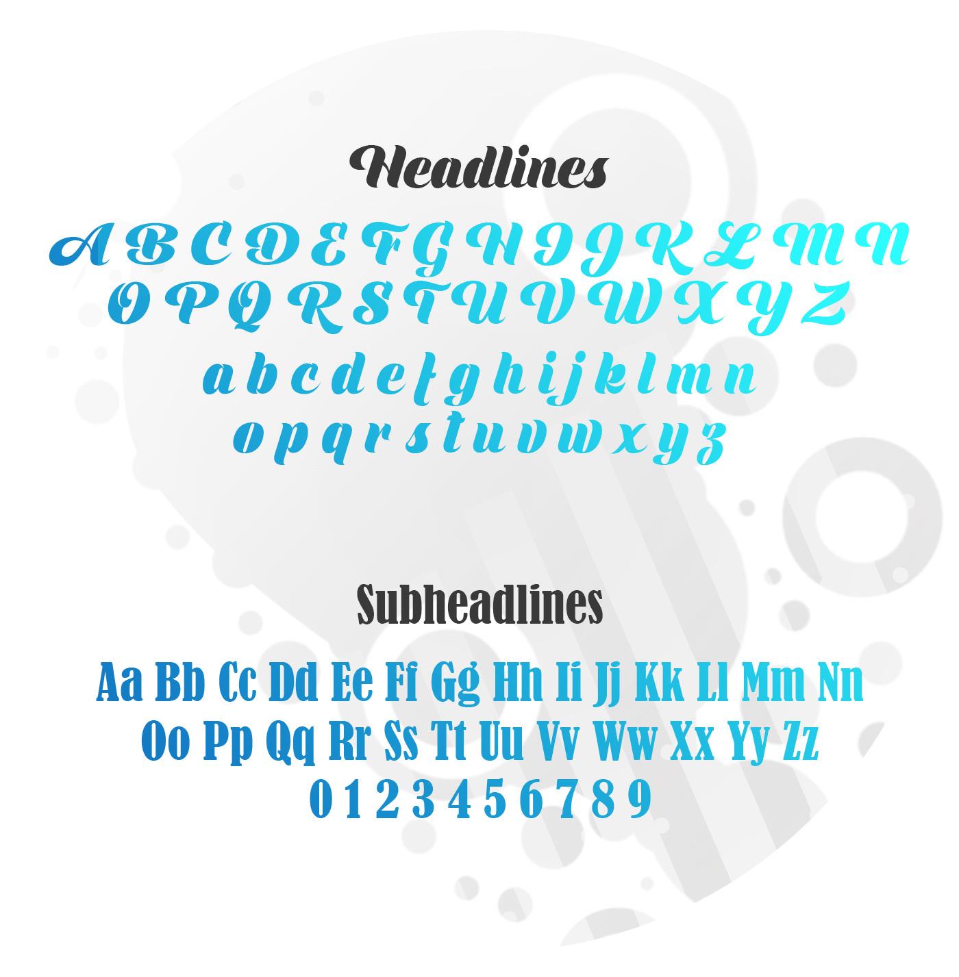 Ovalblue - Typography