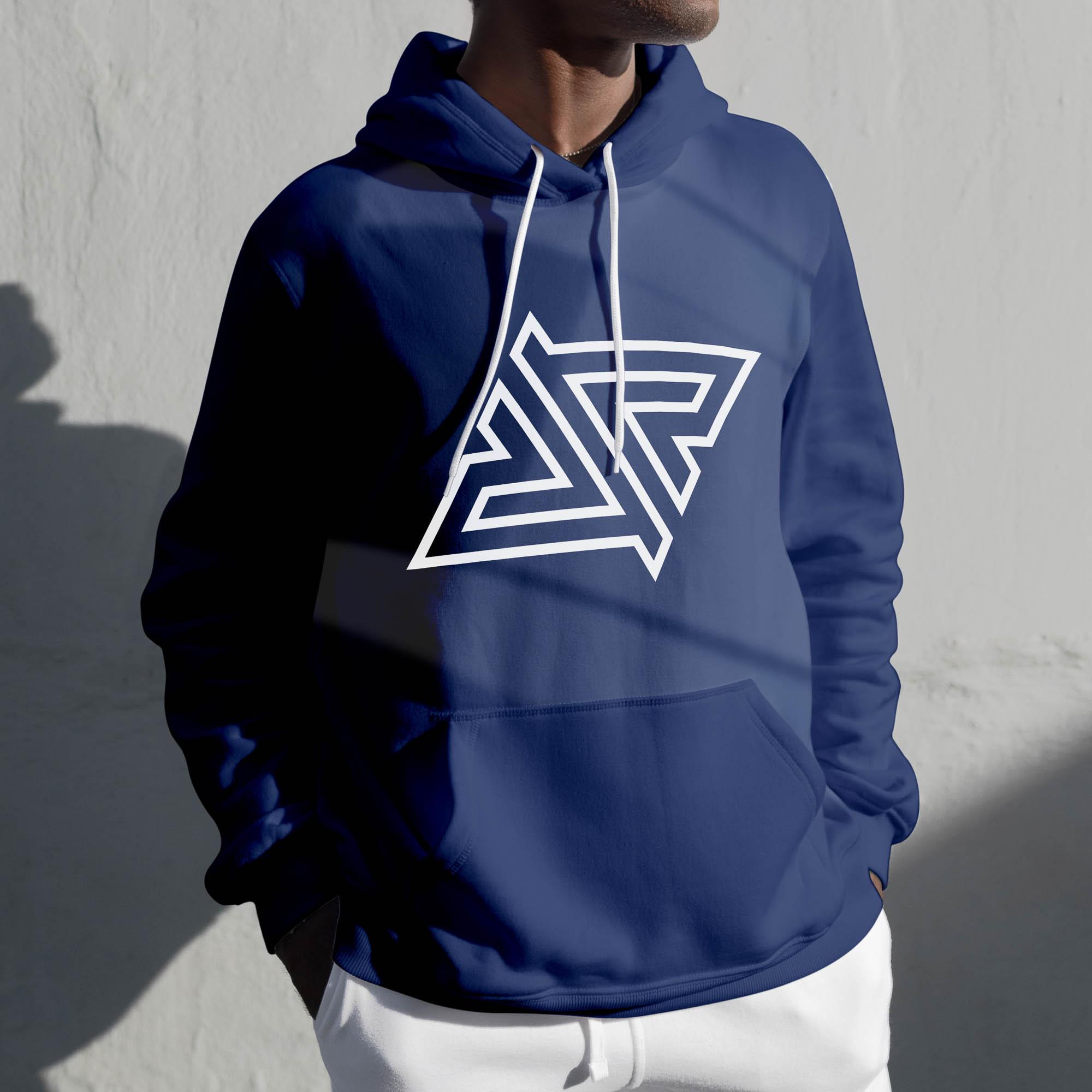 Royal Five - Logo MockUp - Hoodie Blue Reflected