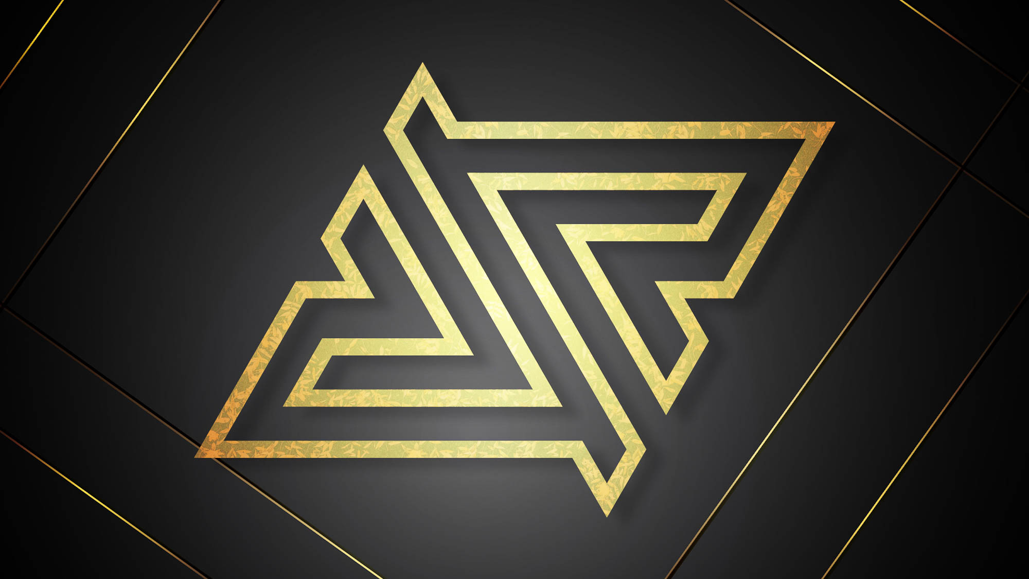 Royal Five - Logo Preview - Gold Outline